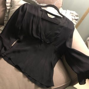 ALLISON TAYLOR.. sheer black blouse